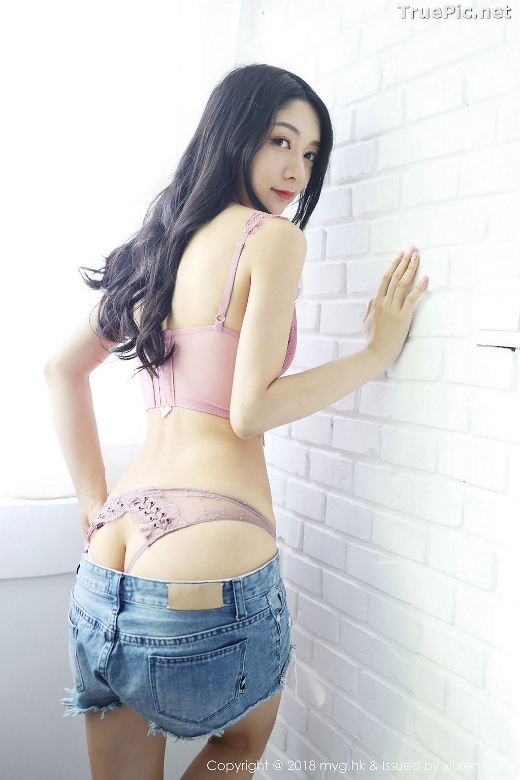 Image MyGirl Vol.322 - Chinese Model - Xiao Reba (Angela小热巴) - Croptop and Jean Short Pants - TruePic.net - Picture-26