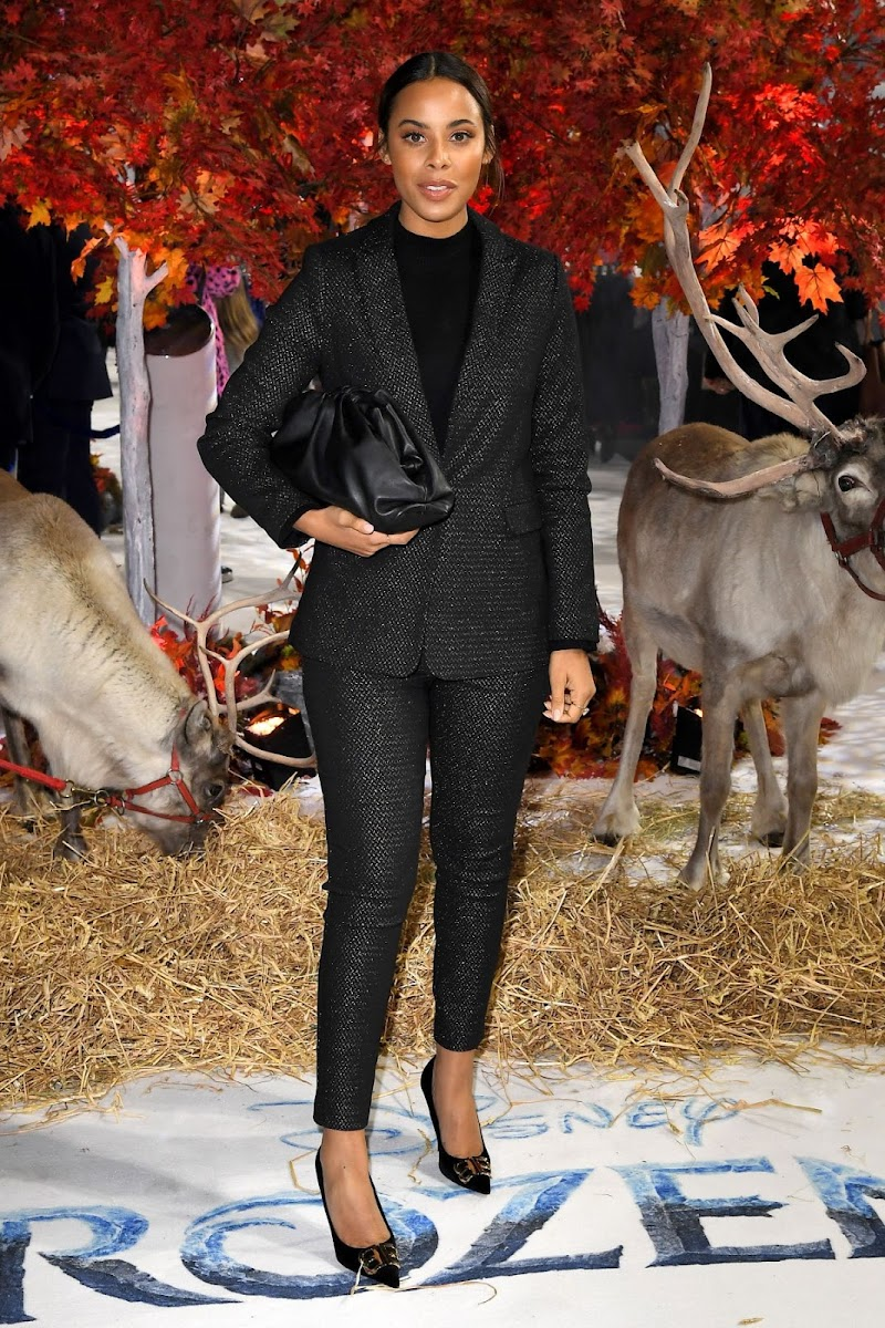 Rochelle Humes Clicks at Frozen 2 Premiere in London 17 Nov-2019