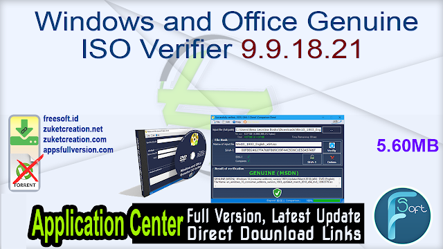 Windows and Office Genuine ISO Verifier 9.9.18.21