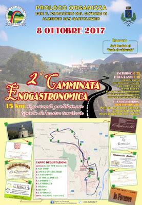 Camminata Enogastronomica 8 ottobre Almenno San Bartolomeo (BG)