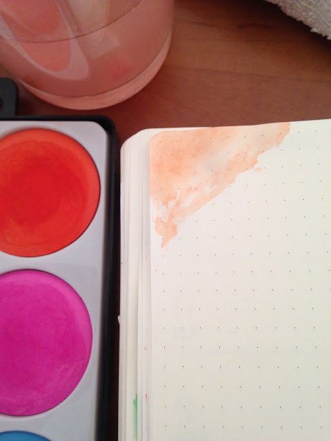 aguarelas e dot journaling