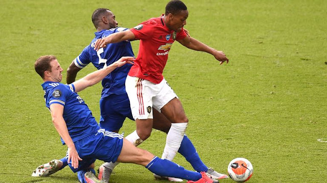 Martial tackled in the box