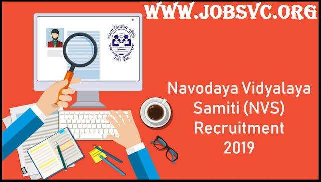 NVS Recruitment (2019) - 2370 Vacancies for PGT, TGT, LDC & More