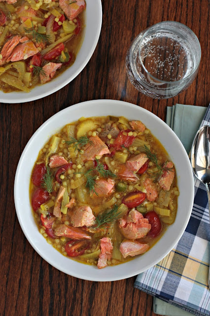 salmon soup with couscous 1