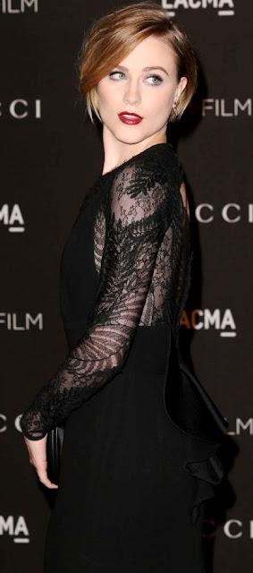 Foto de Evan Rachel Wood vestida de negro