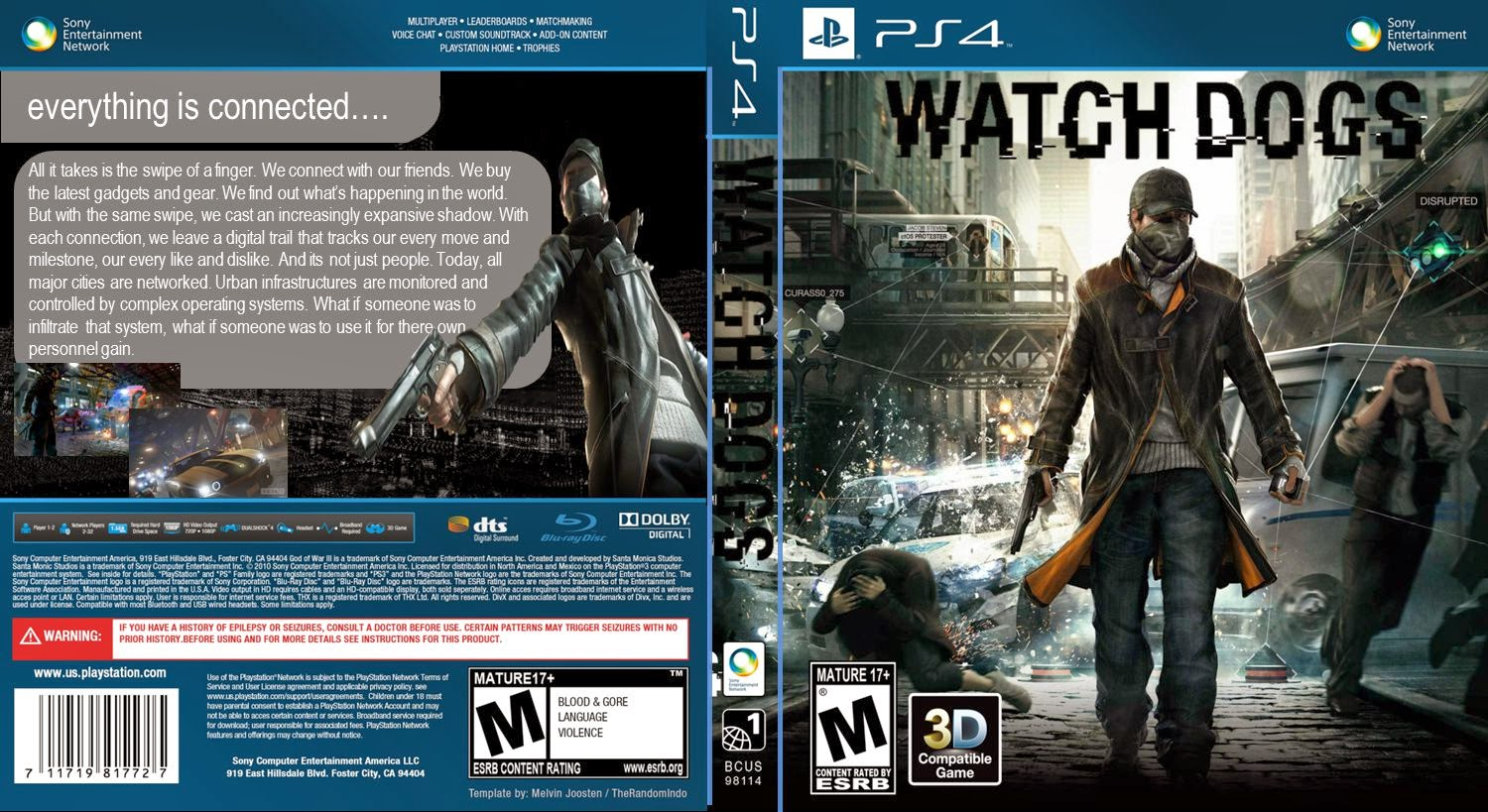 Capa Watch Dogs PS4