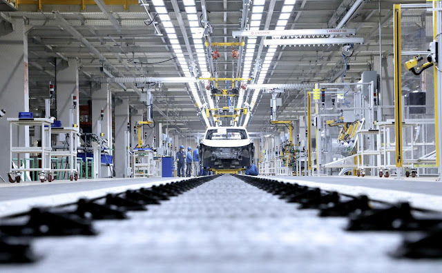 Image Attribute: Production line of the new SAIC VOLKSWAGEN MEB Plant in Anting, China / Photo ID: DB2019AL02529 / Source: Volkswagen AG