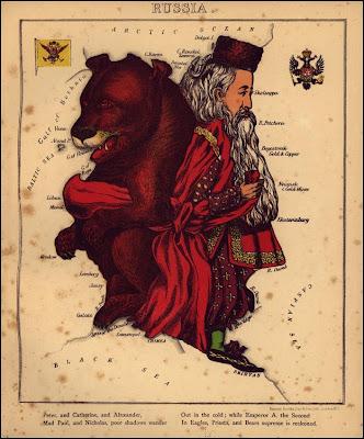 карта России карикатура