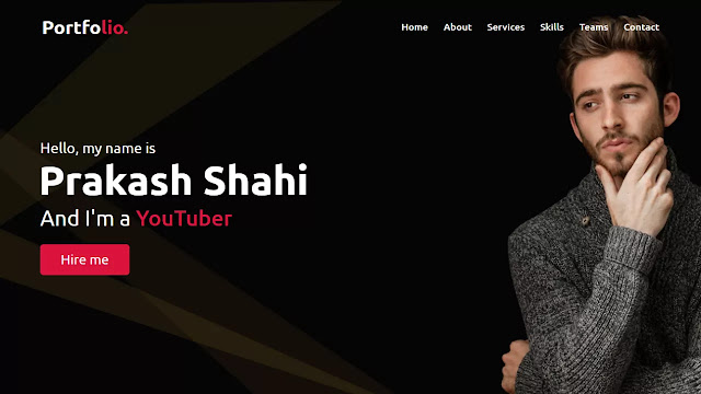 Responsive Personal Portfolio Website using HTML CSS & JavaScript
