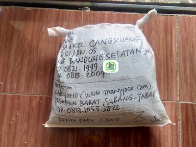 Benih Padi Pesanan   SUTISNA Bandung Selatan, Jabar.   (Setelah di Packing).