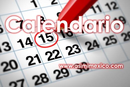 Calendario de fechas de Dias festivos y vacaciones