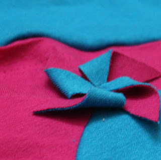 teal, fushsia and pinwheels