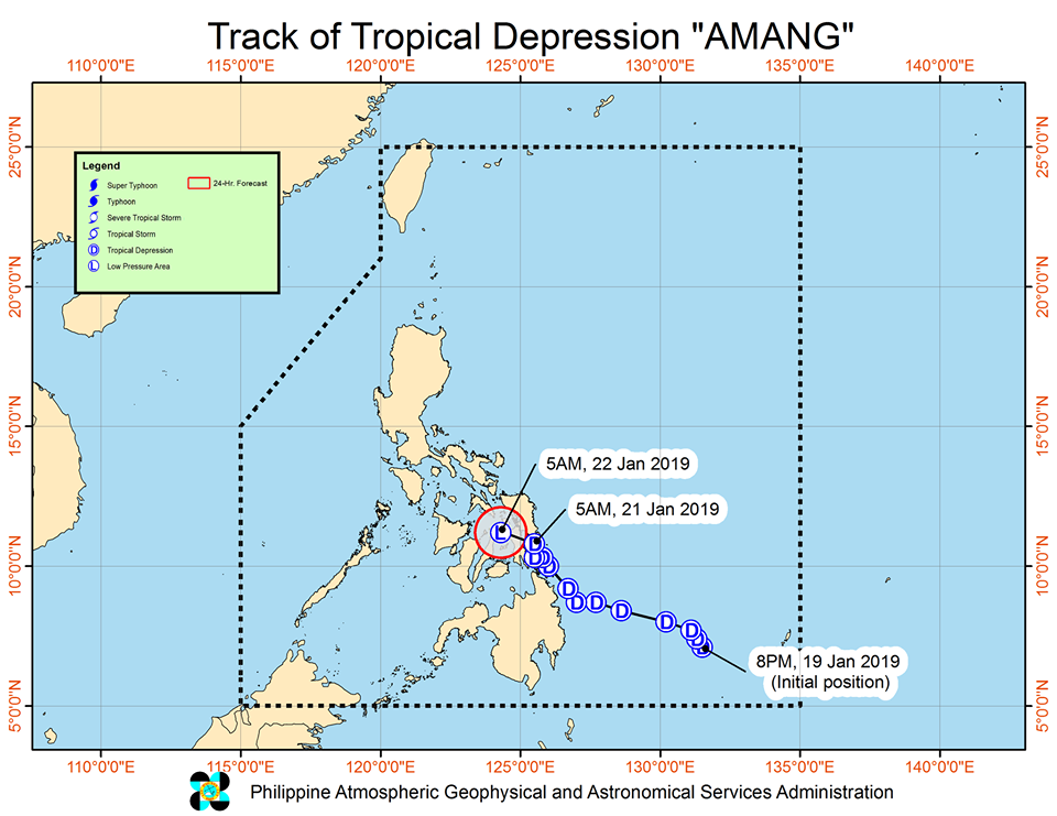 'Bagyong Amang' PAGASA weather update January 21, 2019