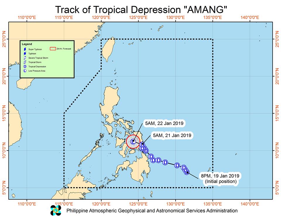 'Bagyong Amang' PAGASA weather update January 21, 2019