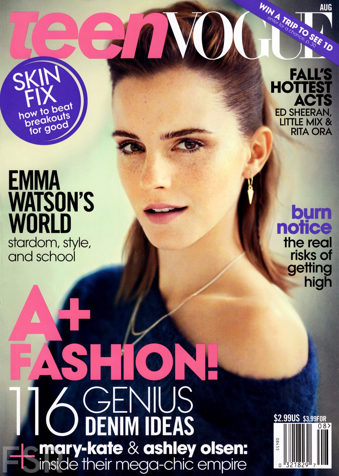 Teen Vogue Magazine Us March 2015 Cover: Retro Bikini: Emma Watson Graces The Cover Of Teen Vogue