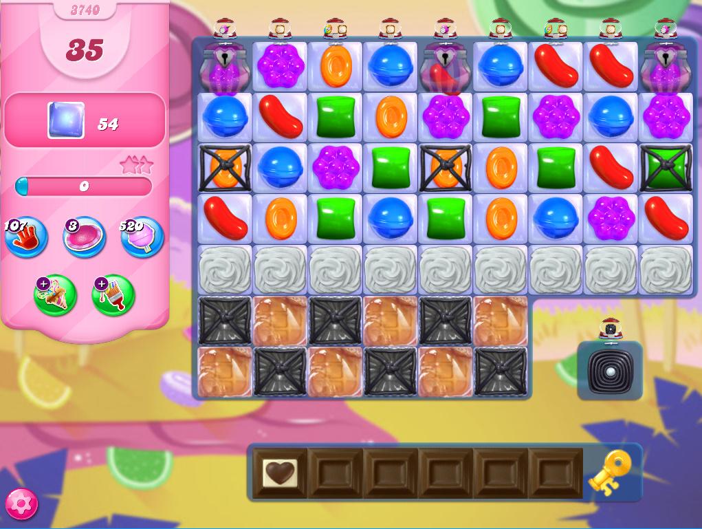 Candy Crush Saga level 3740