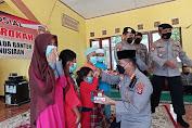 Tim Warung Jum'at Barokah Polda Banten Berbagi Kebahagiaan dengan Anak Yatim Piatu di Yayasan Baiturrahaman Kasemen