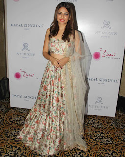 Kriti Kharbanda in summer printed Ghagra Choli