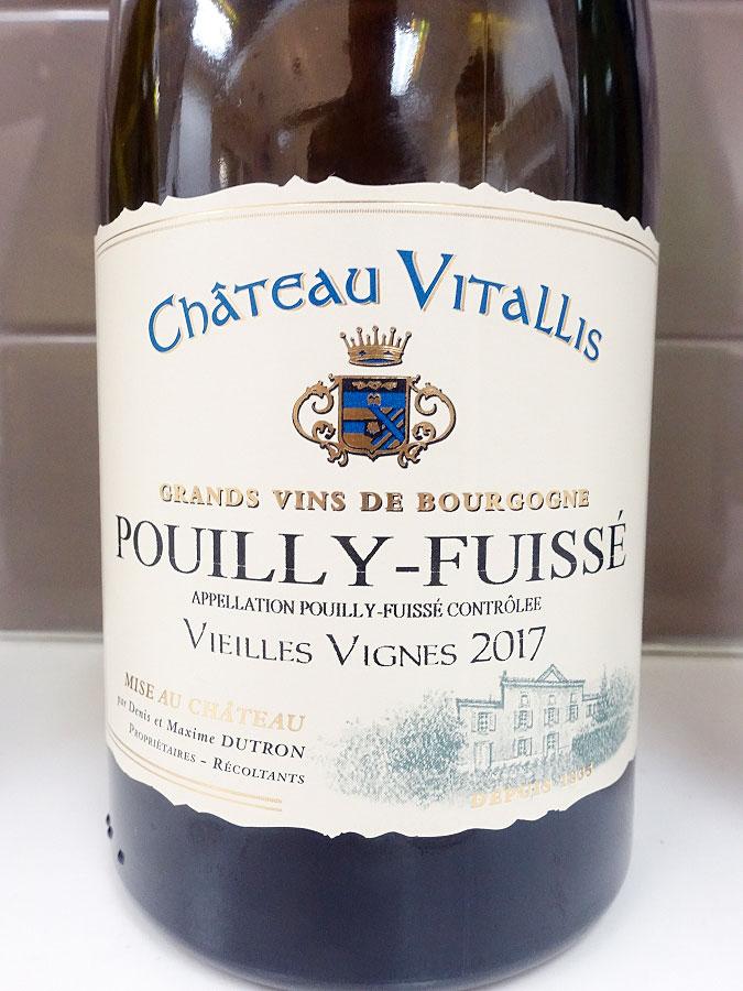 Château Vitallis Vieilles Vignes Pouilly-Fuissé 2017 (91 pts)