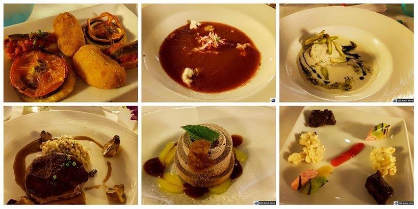 Menu do Jantar de gala no navio - Diário de Bordo: cruzeiro pelo Caribe