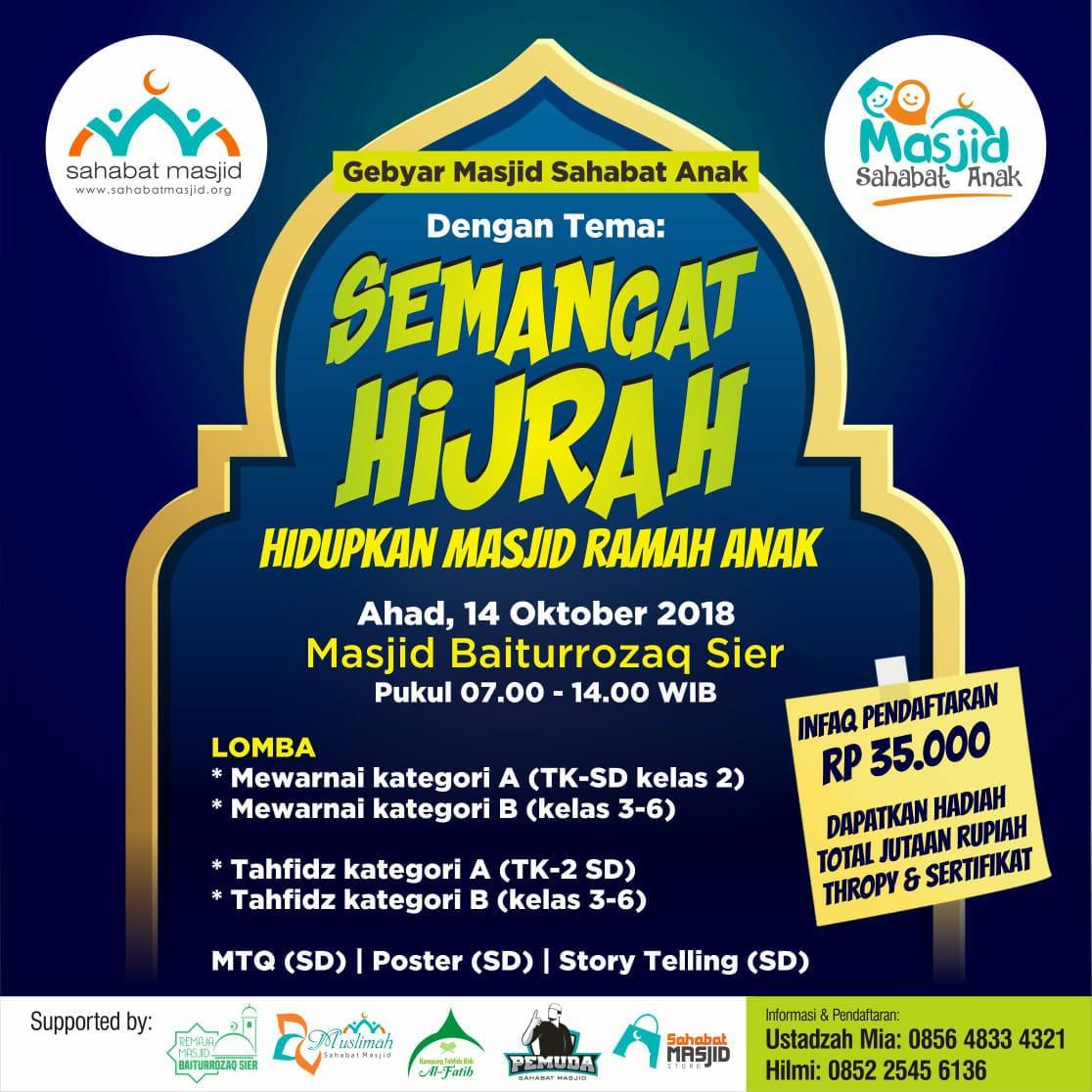 Cintai Masjid Sejak Dini Masjid Sahabat Anak Gelar Lomba Di Masjid Sahabat Masjid Indonesia