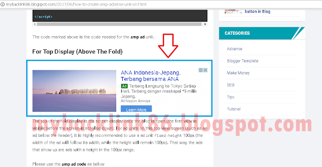 Adsense In The Middle of Blog Post