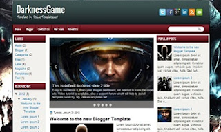 DarknessGame+Blogger+Template
