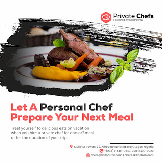 """Jake Adebayo's SkillPatron Launches an """"on-demand' Personal & Private Chef For Hire Service in Africa 8"""