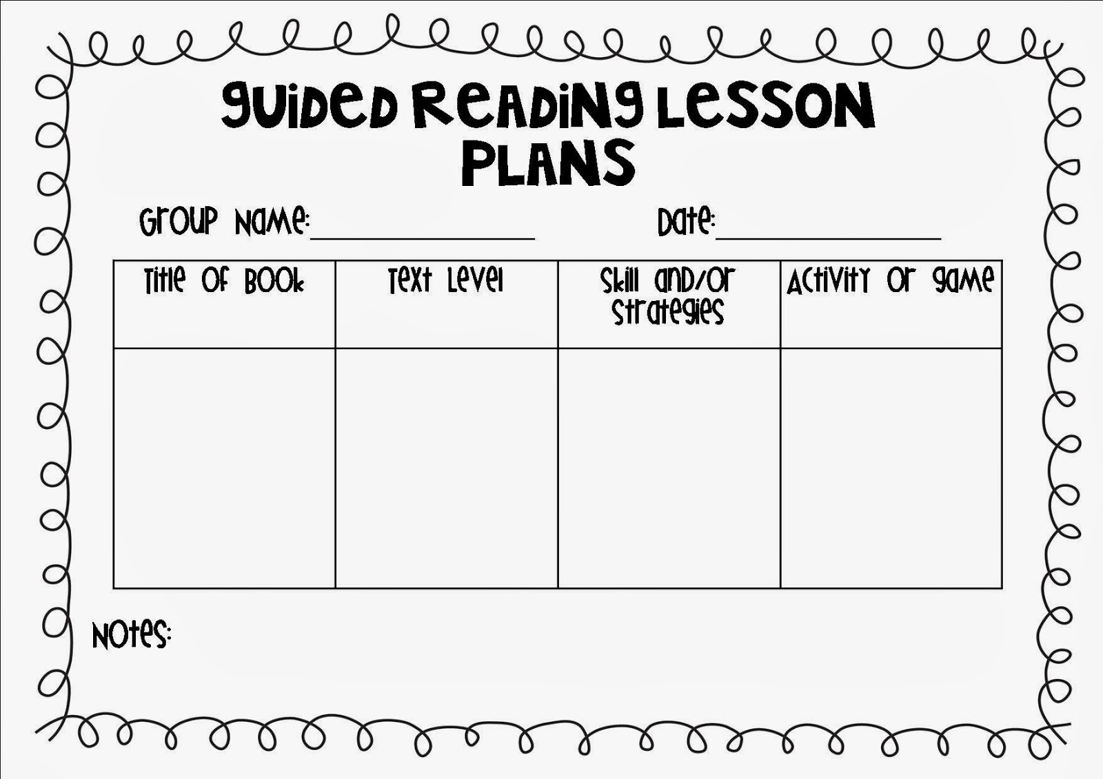 guided reading lesson plan template document blank guided reading lesson plan template plans. Black Bedroom Furniture Sets. Home Design Ideas