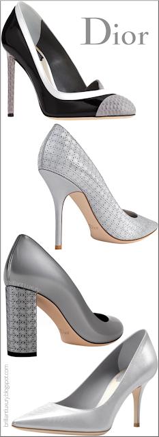 Silver Dior Shoe Collection #brilliantluxury