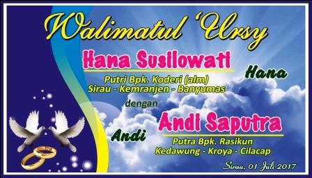 Desain Banner Pernikahan (Walimatul Ursy) cdr | Kumpulan ...