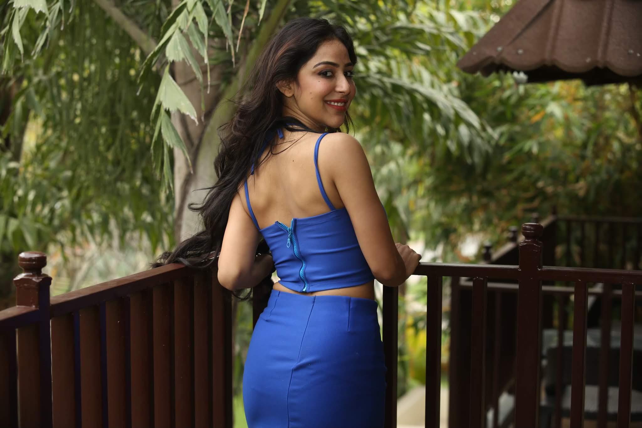 Kapilakshi Malhotra in Blue Dress