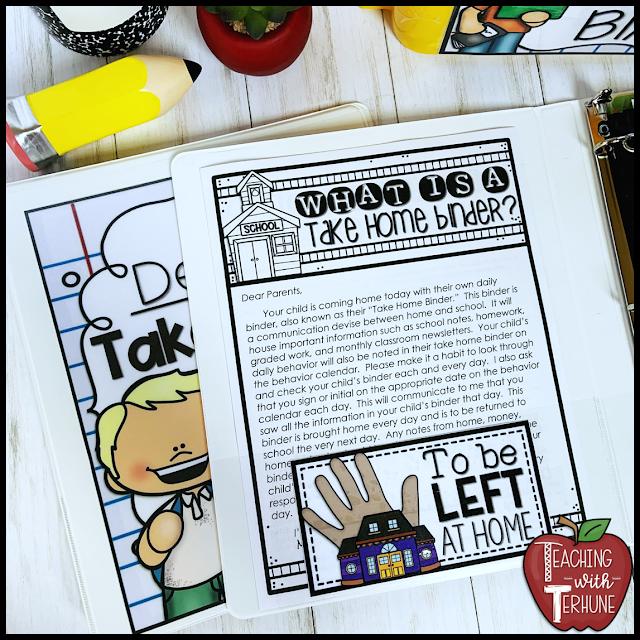 Parent Teacher Communication Binder