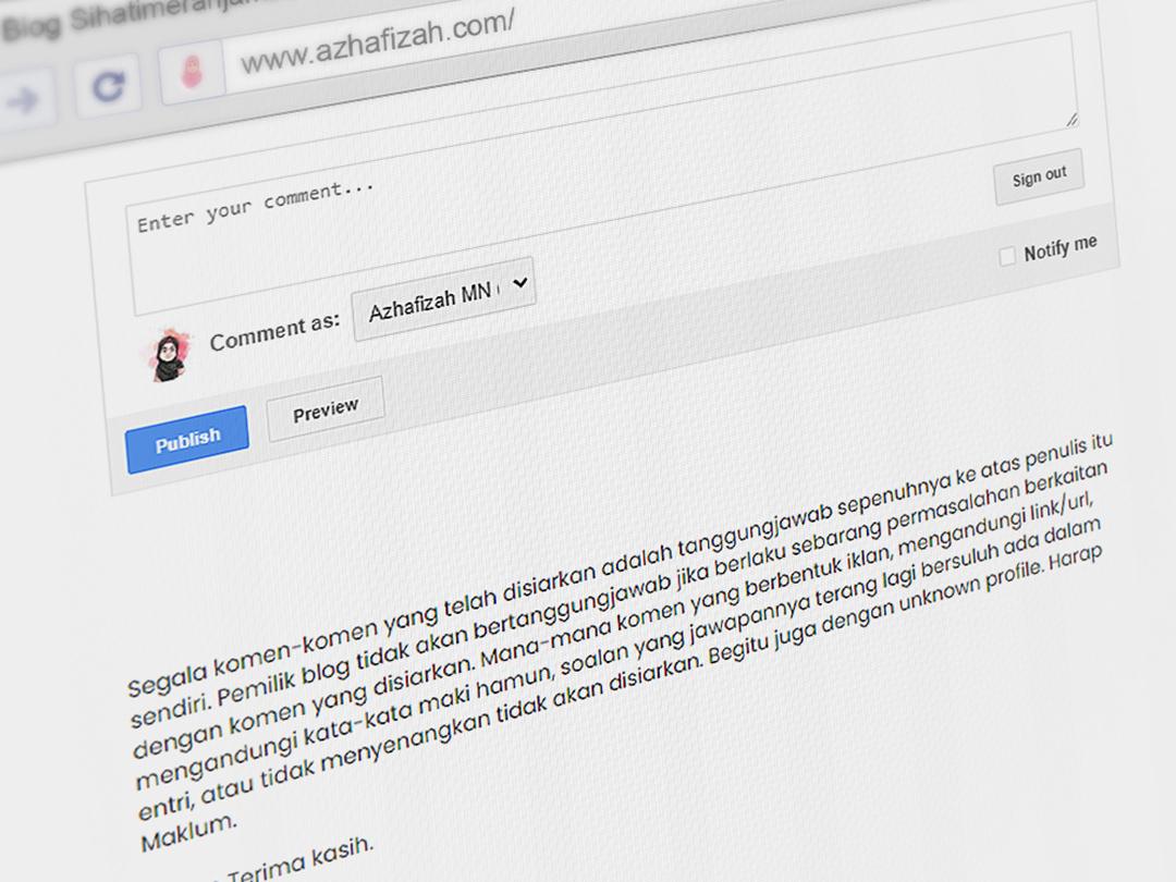 Punca Masalah Komen Di Blog Hilang