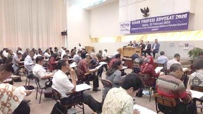 Ujian advokat yang digelar PERADI di Universitas Tarumanegara, Jakarta