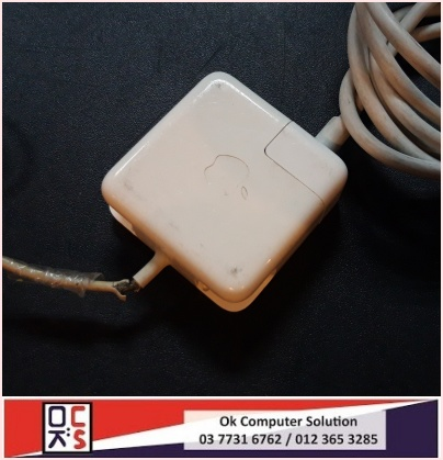 [SOLVED] KABEL / CABLE CHARGER MACBOOK KOYAK | REPAIR MACBOOK DAMANSARA 2