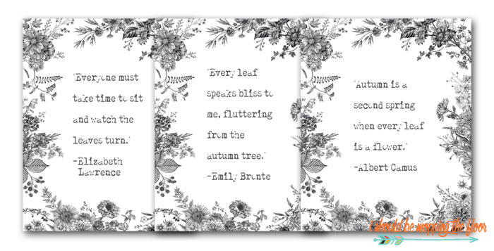 Fall Black and White Printables