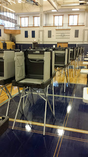 election booths at FHS will be ready for the State Primary on Thursday, Sep 8, 2016