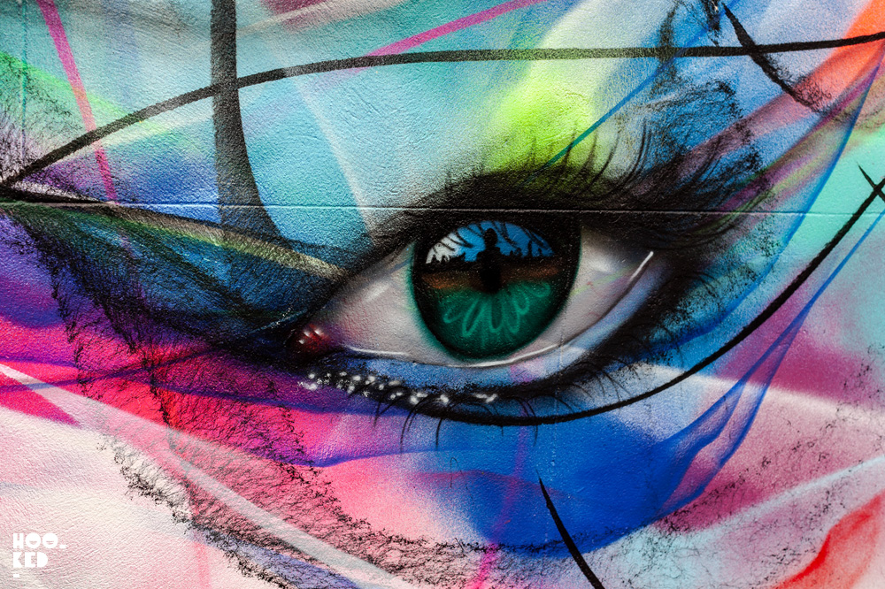 Street Art Mural featuring work of L7M and My Dog SIghs in Cheltenham, UK