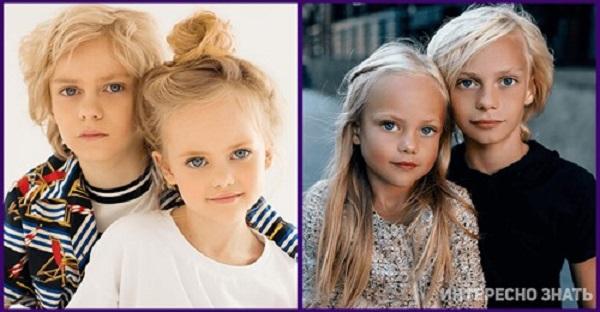 Самые красивые дети в мире. Как же выглядит их мама от которой они получили такую внешность??