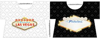 Tarjeta con forma de Camiseta de Fiesta de Las Vegas.