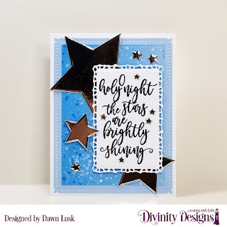 Stamp Set: Silent Night, Custom Dies: Snowflake Sky, Lavish Layers, Pierced Rectangles, Sparkling Stars, Paper Collection: Christmas 2019