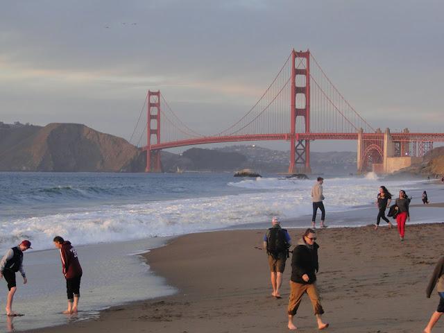 walking in Golden Gate Park, Ca