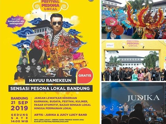 Adira Finance Gelar Festival Pesona Lokal 2019 di Depan Gedung Sate