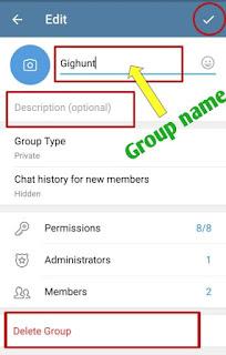 how to create telegram group in hindi