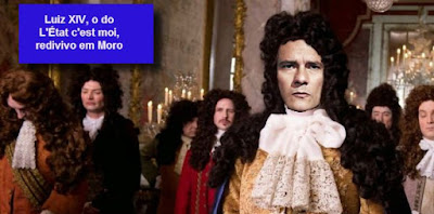 Moro como Luis XIV, montagem Carta Maior