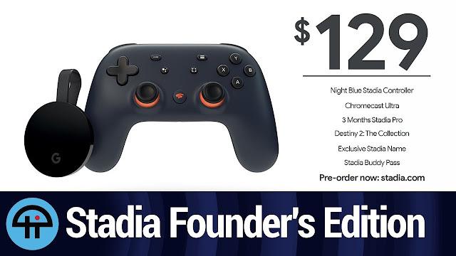 Agotada la Founder's Edition de Stadia y ya solo se vende la Premiere Edition.