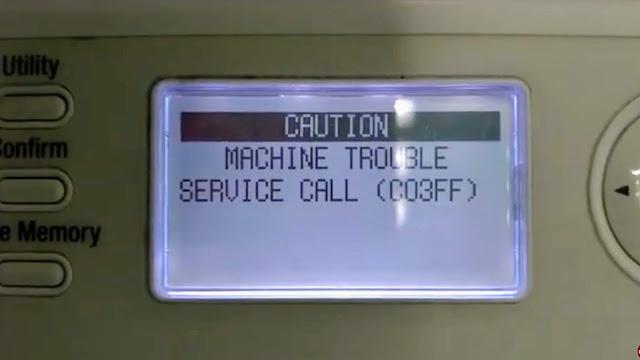 Solved Trouble Service Call C03FF Konica Minolta bizhub 215