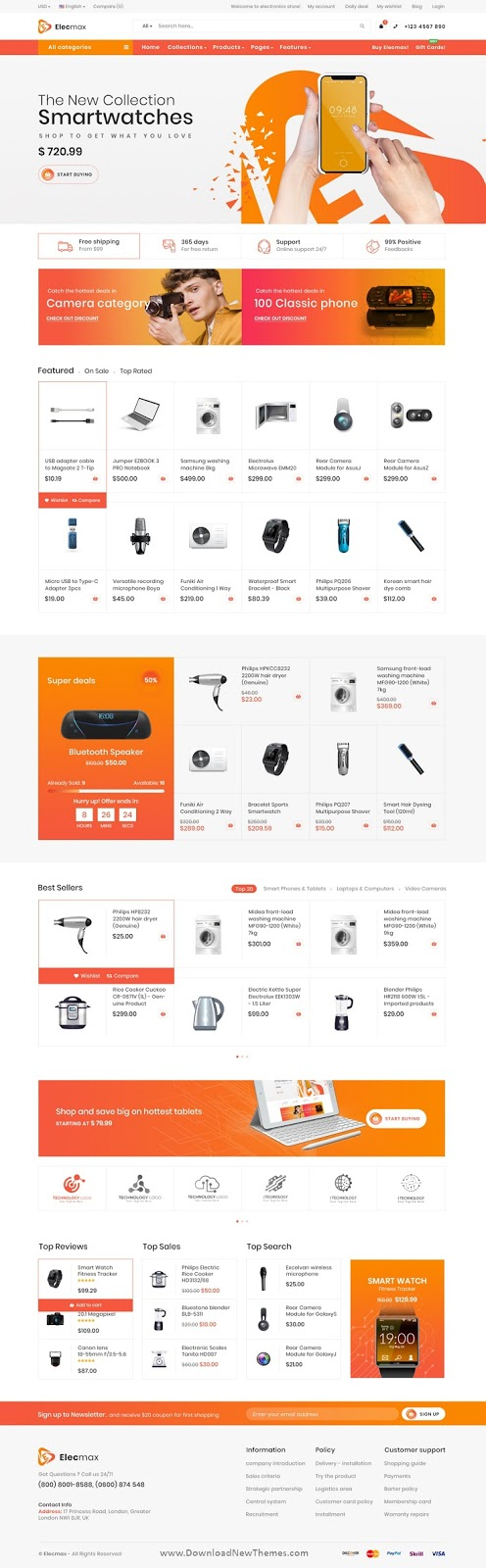 Electronics eCommerce PSD Template