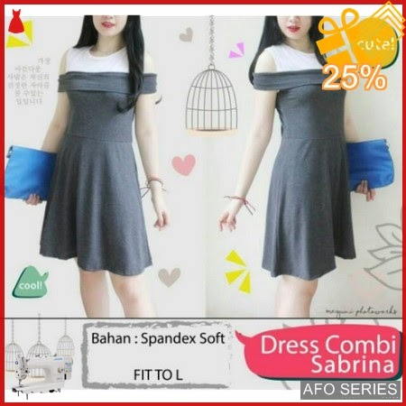 AFO232 Model Fashion Dress Sabrina Combi Modis Murah BMGShop
